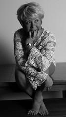 sitting 2.jpg (Mary&Neil) Tags: blackandwhite bw woman portraits mono mary elements fz200