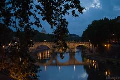 River Tiber In Blue Hour - Rome - With my  teacher Sabrina Fusco Photographer (Antonella Foti) Tags: blue rome roma river gold tiber tevere lungotevere romantic bluehour crepuscolo