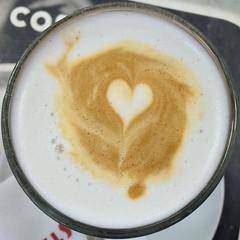 caramel latte (Leo Reynolds) Tags: xleol30x squaredcircle caramel latte coffee drink iphoneography iphone 5s iphone5s xxgeotaggedxx sqset123 xx2015xx sqset