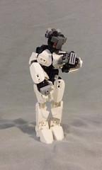 Tamii (ohlookitsanartist) Tags: orange white girl robot factory lego curvy hero curious bionicle robotic tamii