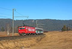 SOB Re456 094 (maurizio messa) Tags: railroad advertising switzerland railway trains svizzera bahn mau sponsor sob schwyz pubblicità ferrovia treni werbe voralpenexpress re456 nikond7100 vae2568