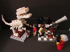 Sheldon and Leonard visit the Science Museum (annrushworth) Tags: stars skeleton big lego dinosaur theory science telescope leonard bang legome sheldoncooper