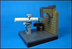 I-Trooper (Karf Oohlu) Tags: wall lego cyclops minifig vignette rocketlauncher oneeyed moc