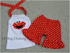 elmo (Lil' Bug Clothing) Tags: elmo short halter