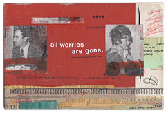 all worries are gone... (Depression Press) Tags: art collage vintage design graphicdesign artwork paste glue bookcover letterpress letraset worries vintagebook depressionpress