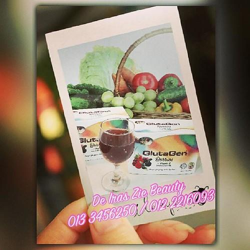 """GlutaGen® Berries ++ Vitamin E """"Menyerlahkan Kejelitaan, Keceriaan & Kelansingan""""  Gabungan anugerah Pencipta Alam, Glutathion, Collagen dan Pati perbagai buah Beri yang ditambah dengan limpahan Vitamin E dan perbagai nutrisi untuk memperbaharu"""