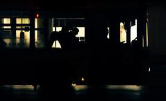 Nightcall | Day 175 / 365 (marcin baran) Tags: road street city light shadow people urban black bus wet public glass lines silhouette yellow mystery night speed dark fire drive movement driving fuji darkness pov candid seat awesome streetphotography poland polska stranger move mysterious driver fujifilm tones gliwice x100 marcinbaran x100t