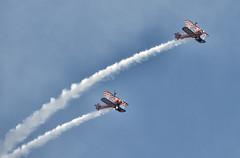 Breitling Wing Walkers 2 (Steve Mos) Tags: sky nikon trails aeroplane acrobatics vapour d610 wingwalkers daredevils airobatics brietling