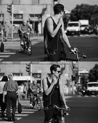 [La Mia Citt][Pedala] (Urca) Tags: portrait blackandwhite bw bike bicycle italia milano bn ciclista biancoenero mir bicicletta 2015 796 pedalare dittico nikondigitale ritrattostradale