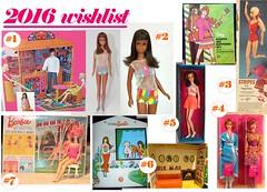 TAG GAME: 2016 WISHLIST (ModBarbieLover) Tags: 1971 mod barbie wishlist 1967 tnt francie 1964 1070 2016