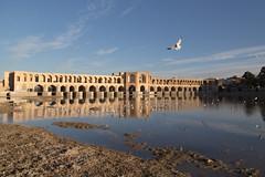Si-o-seh pol bridge, Esfahan (D A Scott) Tags: travel bridge reflection canon asia iran persia esfahan isfahan sioseh