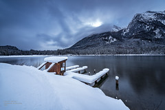 frozen landscape - Lake Hintersee (A.R.F.R) Tags: longexposure schnee trees winter light sea sky cloud snow seascape mountains cold nature water berg alberi clouds montagne germany landscape deutschland photography berchtesgaden licht nikon nuvole fotografie natur himmel wolken wideangle natura berge cielo neve nikkor sole kalt inverno landschaft bume freddo cloudporn luce paesaggio waterscape langzeitbelichtung weitwinkel naturezza berchtesgadenerland esposizionelunga 1424mm hinternsee
