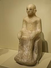 Seated figure Egypt First Intermediate Period 2000 BCE Alabaster (mharrsch) Tags: seattle man male statue washington ancient bald egypt figurine seattleartmuseum alabaster firstintermediateperiod mharrsch 20thcenturybce