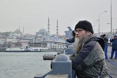 DSC_1694 (zeynepcos) Tags: bridge winter snow man cold fishing fisherman outdoor istanbul mosque galata karakoy eminonu