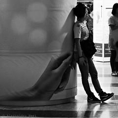 Singapore (ale neri) Tags: street blackandwhite bw woman subway asian singapore metro streetphotography aleneri alessandroneri