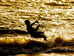 2016 PHOTOCHALLENGE WEEK 6: OUTDOOR  HOT/COLD. (Honeydew Lake) Tags: summer kite hot beach water silhouette sport waves action melbourne surfing backlighting photochallenge2016