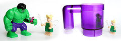 Hulk punition (Vanjey_Lego) Tags: cup purple lego tinkerbell fairy minifig minifigs superheroes hulk marvel minifigure minifigures minihulk