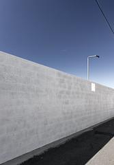 Ex Surveillance Camera (autobahn66.com) Tags: city blue sky urban wall backalley surveillance perspective minimal simplicity minimalistic vaportrail suimple