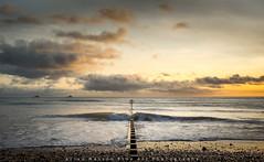 Golden Moments,Aberdeen Beach (Explored) (canonshooter70d) Tags: sea sky cloud beach water sunrise scotland sand sony aberdeen groyne a7ii