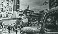 1A (Paul B0udreau) Tags: street people toronto canada water fountain lamp hat sunglasses umbrella droplets nikon distillerydistrict niagara historic master bicyclist ripples oldtruck peanutbutter ribbet touristarea photomatix nikkor1855mm themixup duplicatetag nikond5100 bougeathisfinesthour butalsoathisworse bigbeervatthing