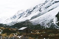 Hooker Valley Track (stevenxuex) Tags: leica travel winter newzealand snow mountains film 35mm landscape kodak hut nz southisland mountcook mountcooknationalpark leicamp shootfilm filmcommunity