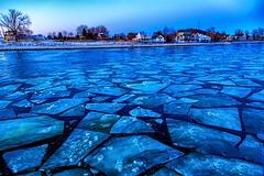 Ice Flow (Explore 2-18-2016) (Mi Bob) Tags: us unitedstates michigan springlake grandhavenpier grandhavenr