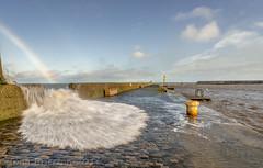 Danger - Slippery when Wet! (Tony Brierton) Tags: sea storm water pier waves power seawall splash 26115 brayharbour