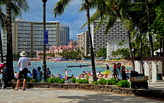 Beach Scene (jcc55883) Tags: ocean hawaii nikon waikiki oahu pacificocean visitors waikikibeach royalhawaiian nikond3200 kalakauaavenue d3200 kuhiobeachpark