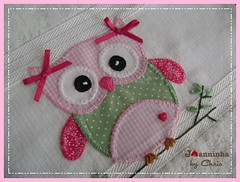 coruja (Joanninha by Chris) Tags: baby handmade embroidery artesanato bordado toalhas feitoamo enxovalbebe aplicaodetecido
