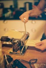Pasta Rolling (Rachael.Robinson) Tags: winter canada color film 35mm island pasta fresh fujifilm spaghetti maker campobello