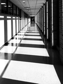 Down the long hall