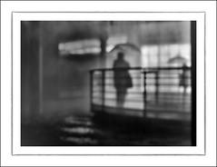 F_DSC3796-BW-Nikon D800E-Nikkor 28-300mm-May Lee  (May-margy) Tags: portrait bw blur silhouette umbrella bokeh taiwan rails    taipeicity       waitingintherain  repofchina maymargy nikkor28300mm nikond800e maylee  mylensandmyimagination streetviewphotographytaiwan  naturalcoincidencethrumylens  linesformandlightandshadows  fdsc3796bw