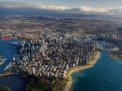 Whitecaps (ecstaticist - evanleeson.com) Tags: ocean blue west english water vancouver bay downtown pacific aerial end helijet whitecaps