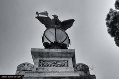 DSC_3402-Modifica.jpg (frillicca) Tags: bw sculpture detail roma lamp gate italia eagle bn maggio cancello lazio lampione aquila scultura particolare 2015 villatorlonia pilastro