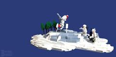 Locking Target (burningblocks) Tags: snow robot war lego military mortar walker weapon micro scifi mech moc