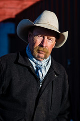 Madsn  (nevadoyerupaja) Tags: winter portrait horses horse usa male hat barn outdoors cowboy naturallight wyoming saddle tack jh madsen outfitter