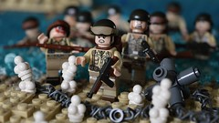 Hitting the Beach (~J2J~) Tags: beach soldier lego attack american ww2 normandy dday allies minifigure brickarms overmolded minifigsrus