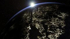 Evening Lights over Valles Marineris (Kevin M. Gill) Tags: sunset mars space future terraforming vallesmarineris livingmars