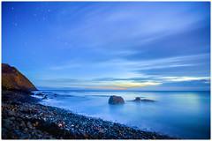 Blackhead Sunset (five15design) Tags: ocean sunset sea newzealand sky beach clouds evening harbour blackhead southisland otago dunedin aotearoa waldronville summerwater