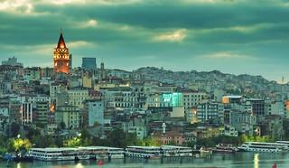 Twilight Galata Tower Istanbul
