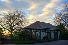 Rustic Teahouse Morning (Dave Roberts3) Tags: trees winter sky wales clouds sunrise silhouettes newport gwent citrit