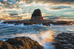 Pulpit redux (Pat Charles) Tags: ocean longexposure travel sunset tourism beach water nikon rocks waves australia melbourne victoria rosebud splash 1001nights morningtonpeninsula flinders capeschanck 1001nightsmagiccity
