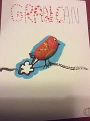 Berry bomb/fart art (edwardbow86) Tags: bird art stone pebble fart