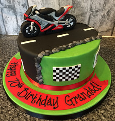 Superbike Birthday Cake