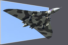 Vulcan Out-of-Bounds (markyharky) Tags: photoshop 3d airport escape airshow frame vulcan prestwick pik avro outofbounds prestwickairport xh558 avrovulcan egpk vulcantothesky vtts