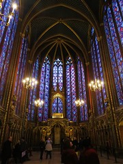Sainte Chapelle High Chapel (tom_2014) Tags: old travel windows paris france building church glass architecture french religious ancient europe european catholic famous religion stlouis eu chapel stainedglass landmark medieval unesco worldheritagesite historical parisian romancatholic worldheritage saintechapelle stainedglasswindows religiousarchitecture medievalarchitecture highchapel illedecitie