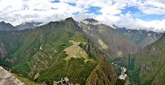 Machu Picchu from Waynapicchu in Peru pano2 5-25-15