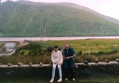 Sitting on the wall (prayspot) Tags: lake galway abbey wall walk victor connemara fitzpatrick kylemore
