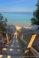Lake Michigan ... in the shadow of spring (Ken Scott) Tags: shadow usa beach stairs spring michigan steps lakemichigan greatlakes april hdr rl freshwater voted selfie leelanau 2016 sleepingbearbay 45thparallel kenscott sbdnl sleepingbeardunenationallakeshore mostbeautifulplaceinamerica kenscottphotography kenscottphotographycom