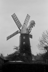 Dobson's mill, Burgh Le Marsh (col-h) Tags: industry windmill 35mm lincolnshire lincoln 1980s windpower burghlemarsh
